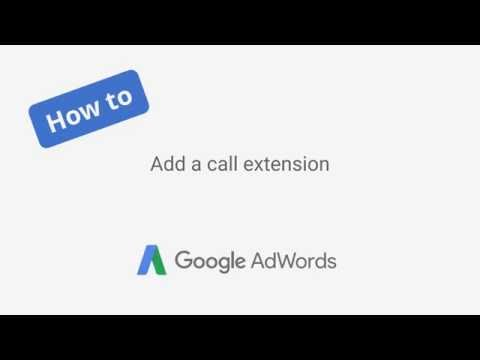 How to add a call extension