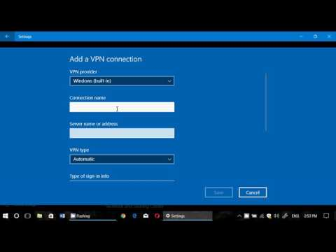 Windows 10 Built in VPN Settings what it is all about