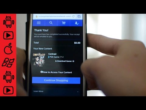Using the PlayStation app on your smart phone to download games to your ps4 remotely