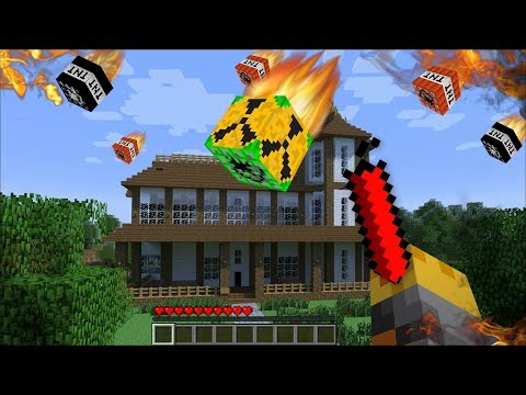 GIANT TNT APPEARS IN MY HOUSE IN MINECRAFT !! Minecraft Mods