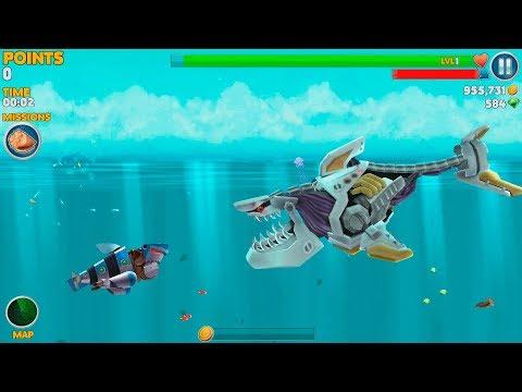 Hungry Shark Evolution Robo Shark Android Gameplay #40