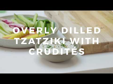 Overly Dilled Tzatziki with Crudités