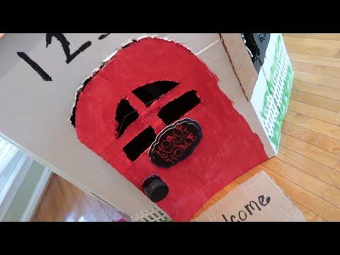 Craft Day! ( DIY Cardboard Box Playhouse)