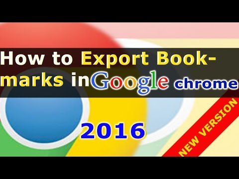 How To Export Bookmarks From Chrome | Backing Up Google Chrome Bookmarks. Google Chrome Shortcuts #6