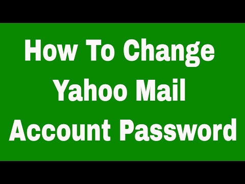 How To Change Yahoo Mail Account Password 2017 - Yahoo Ka Password Kaise Badle