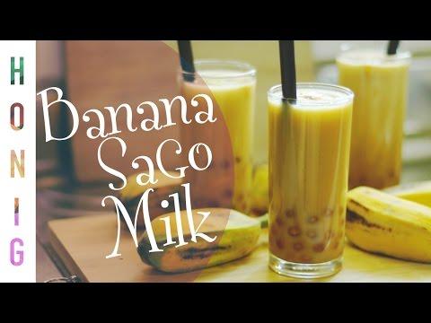 Banana Milk Sago Drink