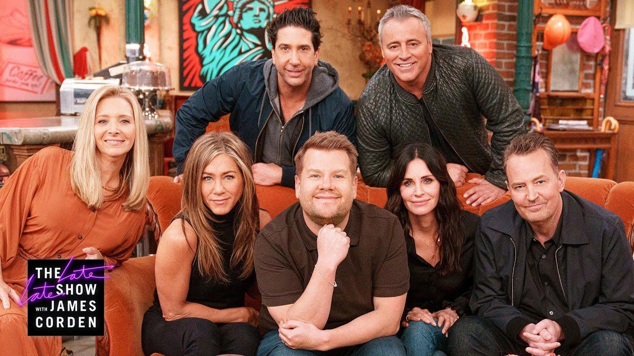 James Corden Visits the Cast at the 'Friends' Reunion