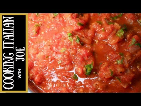 World's Best Tomato Pasta Sauce Cooking Italian with Joe