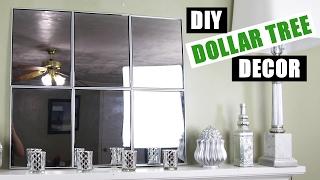 DOLLAR TREE DIY Mirror Wall Art | Dollar Store DIY Mirror Room Decor | Cheap DIY Mirror Mantle Decor