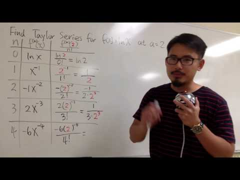 11 10 #15 Taylor Series for ln(x) at a = 2