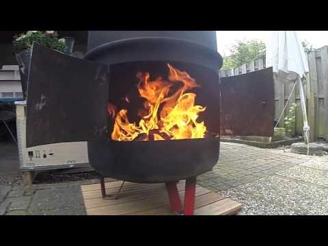 Homemade Fire Barrel