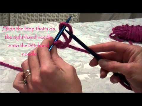 A Quick Way to Cast On Your Knitting Needle