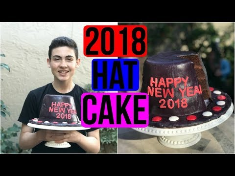How To Make A 2018 HAT CAKE for the NEW YEAR - Baking With Ryan Episode 53