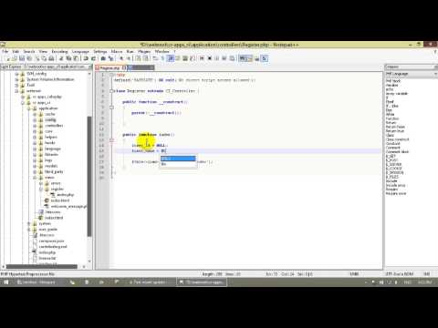 Codeigniter 3 Tutorial 2 - insert/update/delete/select with mysql table part 1/3