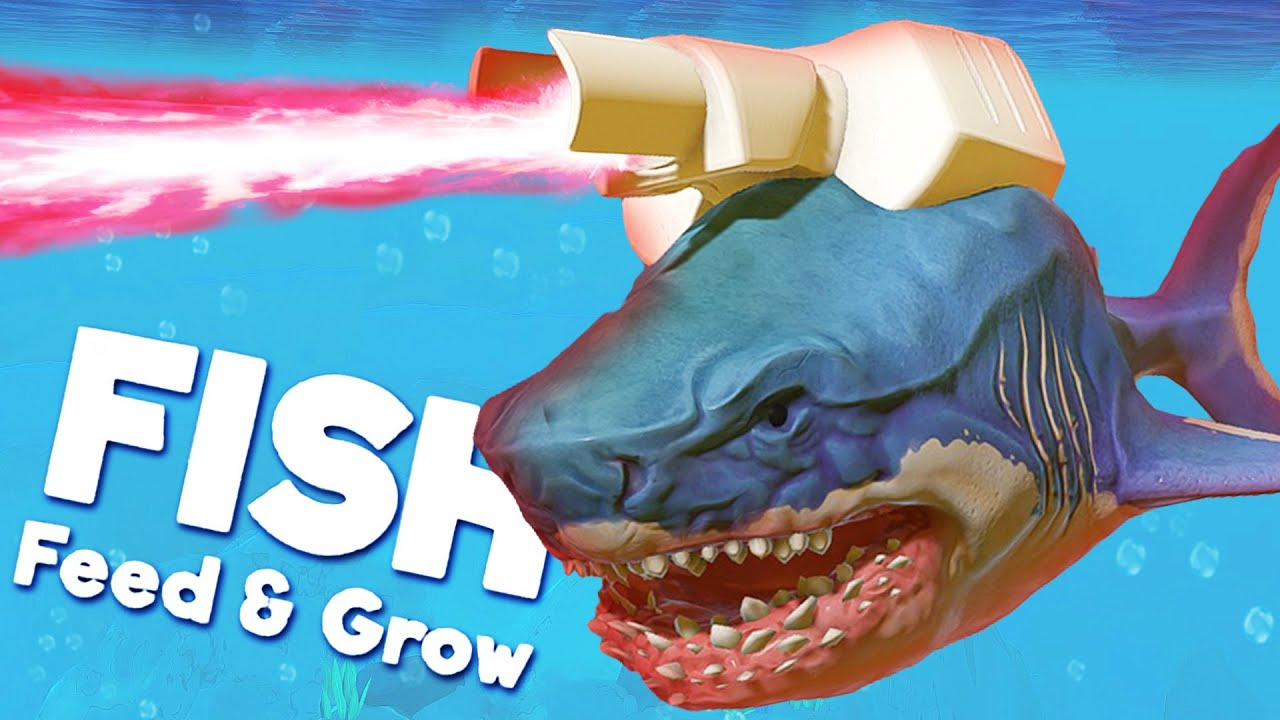 LASER SHARK is REAL! | Feed And Grow Fish