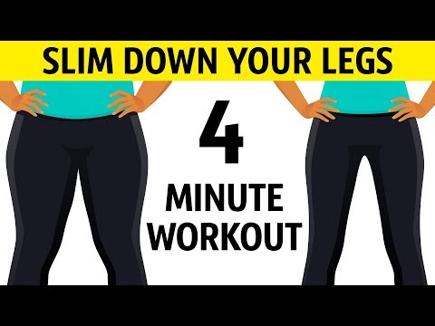 4-Minute Workout to Slim Down Your Legs Fast