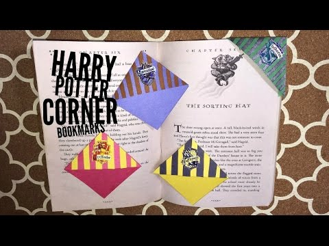DIY Harry Potter corner bookmarks