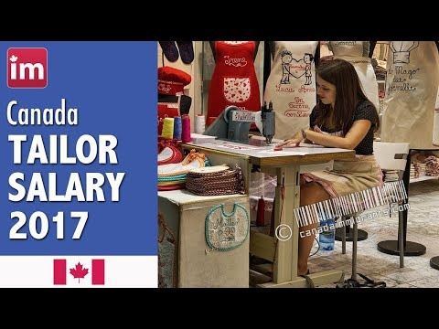 Tailor Salary in Canada | Jobs in Canada (2017)