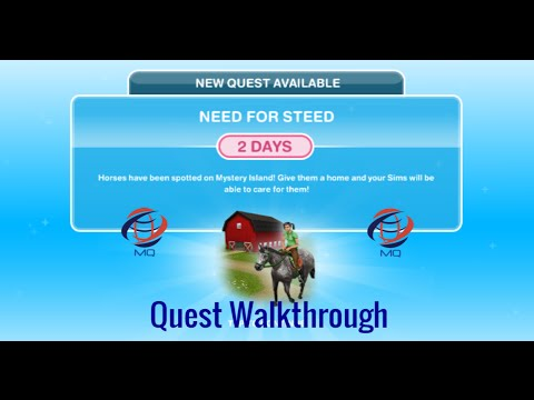The Sims FreePlay - Need For Steed Quest Walkthrough