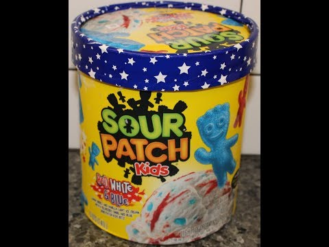 Sour Patch Kids Red, White & Blue Light Ice Cream Review