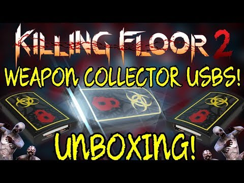 Killing Floor 2   UNBOXING 5 WEAPON COLLECTOR USBS! - Play What You Unbox! (I Love Rng)