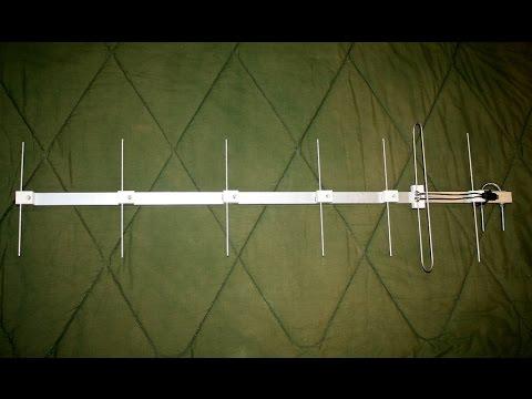 Homemade single channel Yagi TV antenna