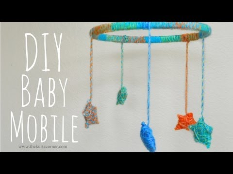 DIY Yarn Stars Baby Mobile