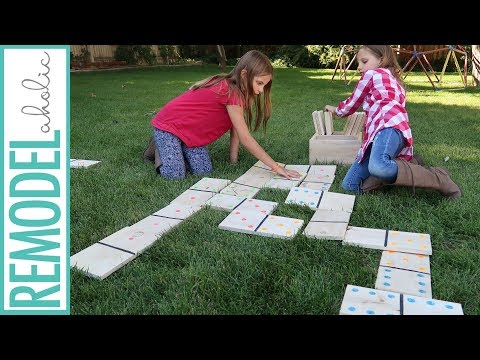 DIY Jumbo Yard Dominoes, 3 Ways