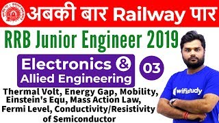 9:00 AM - RRB JE 2019 | Electronics Engg by Ratnesh Sir | Therm Vol,Mob,Einstein's Eq&Mass Act. Law