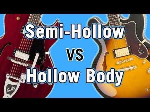 Semi-Hollow vs Hollow Body Tone Comparison