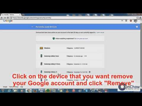 How to Remove Google account from other's device