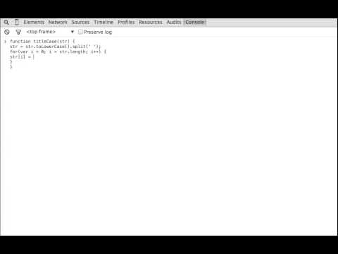 Title Case a Sentence -- Javascript