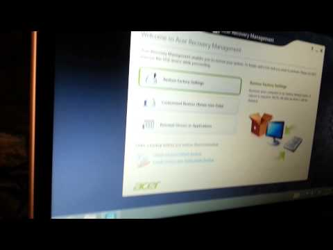 How to Restore Windows 8 Acer Aspire V5 laptop to factory Settings