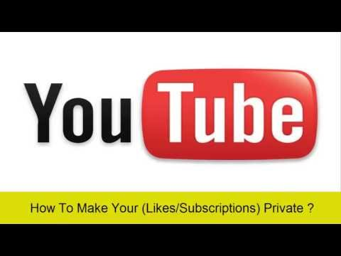 How To Make Your (Subscriptions/Likes) On YouTube Private? - YouTube Tips & Tricks