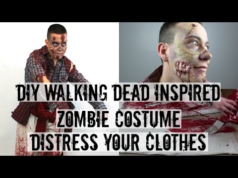 DISTRESS YOUR CLOTHES | WALKING DEAD INSPIRED ZOMBIE COSTUME
