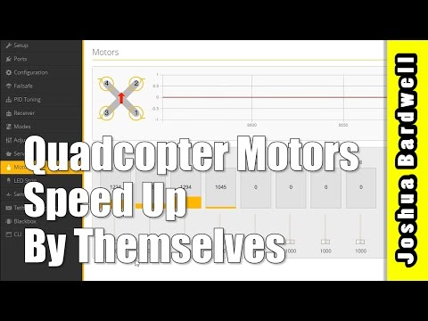 Why Do Quadcopter Motors Spin Up By Themselves With Props Off?