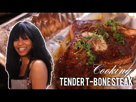 How To Cook a TENDER T-BONE STEAK   COOKING SHOW with LOU