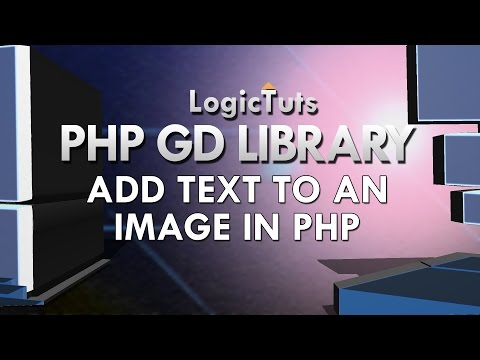 Add text to an image in php | Gd Library