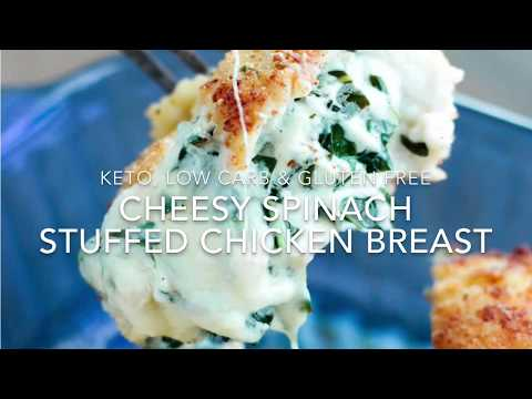 Cheesy Spinach Stuffed Chicken Breast (keto / low carb)