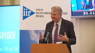 Timothy Snyder: The Nation-State and Europe, 1918 and 2018