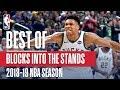 NBAs Best Blocks Into The Stands 2018 19 NBA Season NBABlockWeek