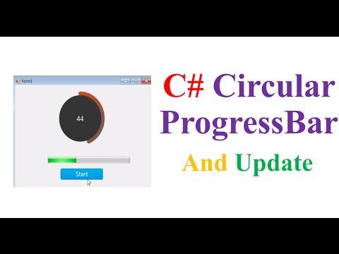 C# ProgressBars - Circular ProgressBar and Timer