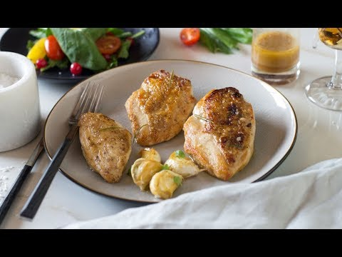 Crispy Skin Chicken w/t Lemon Rosemary Sauce