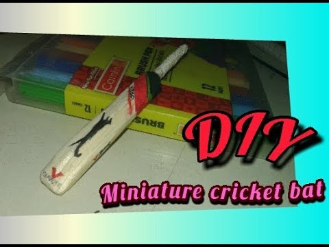 #DIY-How to make mini cricket bat with popsicle sticks(very easy)