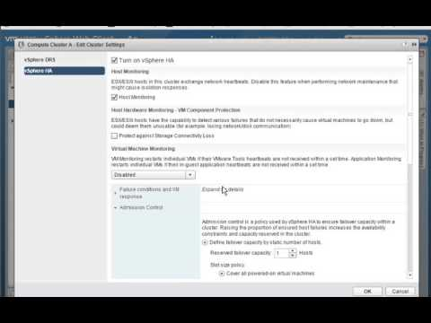 Configuring Admission Control and Admission Control Policies