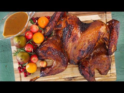 Whiskey-Brined Spatchcock Turkey | Rachael Ray Show
