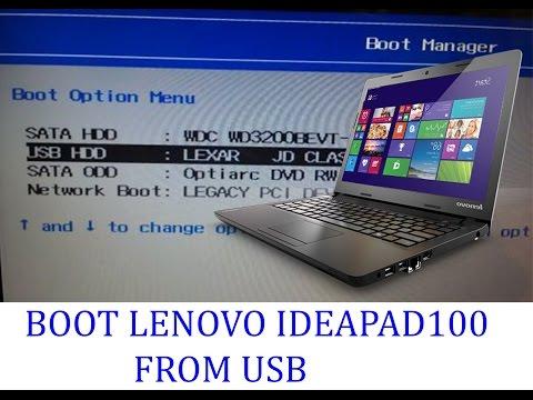 [2018]Boot Lenovo Ideapad 100 From  USB/ CD/ DVD