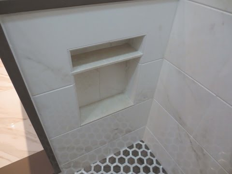 Complete tile Shower install Part 4 Making and waterproofing custom niche