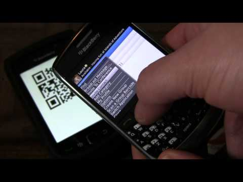 BBM 101: Adding contacts by scanning a barcode