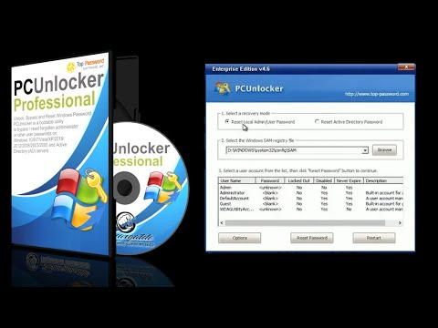 Reset Your Windows Password With PCUnlocker
